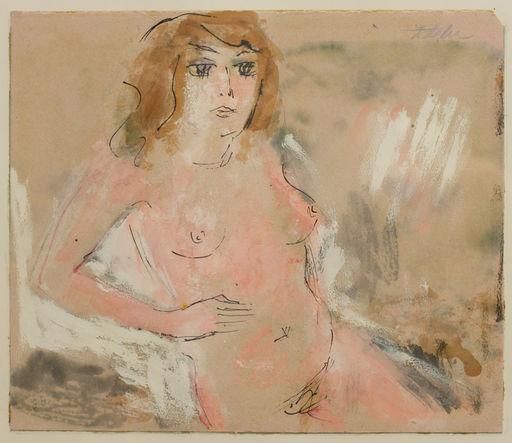 Jules FEHR - Disegno Acquarello - Weiblicher Akt