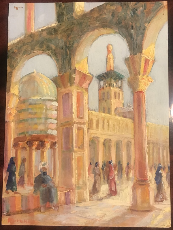 Michel KURCHÉ - Painting - The Omayad Mosque