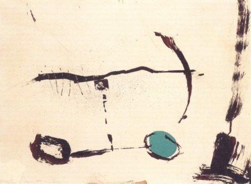 Joseph RIERA I ARAGO - Grabado - Avió roda devant blava