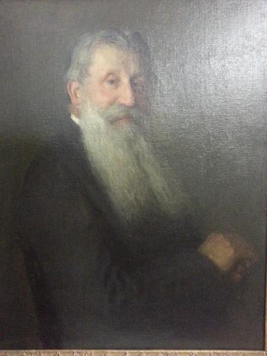 Viktor SCHARF - Pintura - Portrait du père de l'artiste
