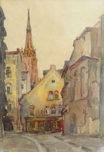 Ruvim MAZEL - Drawing-Watercolor - Old Riga