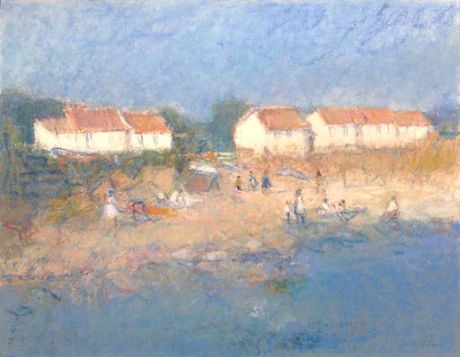 Pim DE CHABANNES - 绘画 - Sur la plage. Ile d'yeu