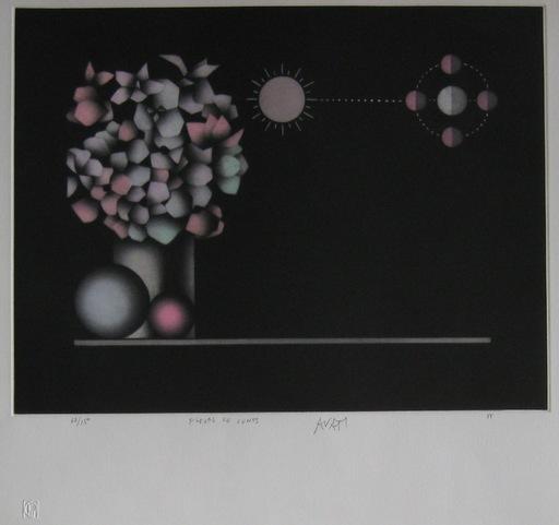 Mario AVATI - Druckgrafik-Multiple - GRAVURE 1988 SIGNÉE AU CRAYON NUM/150 HANDSIGNED ETCHING