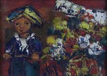 Henry Maurice D'ANTY - Pintura - Flower Vendor