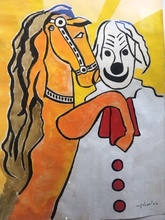 Fernand LÉGER - Drawing-Watercolor - Le CLOWN