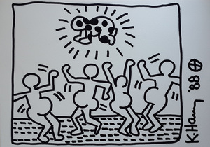 Keith HARING, Keith Haring Dancing Drawing
