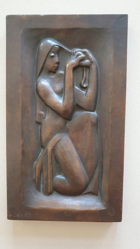 Joseph CSAKY - Sculpture-Volume - Girl Combing her Hair