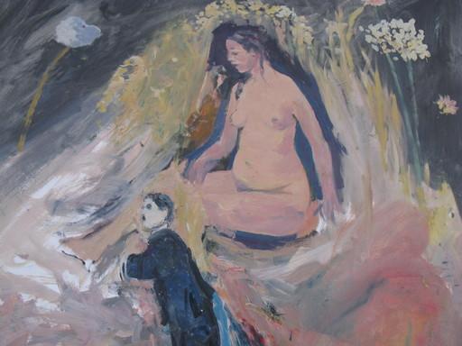 Ivan SCHWEBEL - Gemälde - * Surreal Fantasy, Oil on Canvas with Graphite,