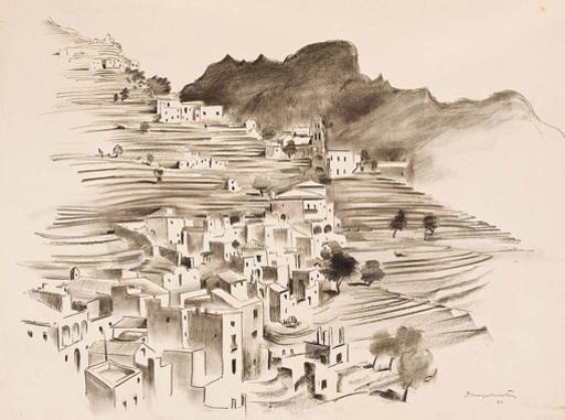 Georg MAYER - 水彩作品 - Italienisches Dorf