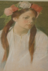 """Constantin LOMIKIN - Painting - """"Portrait of a young girl"""""""