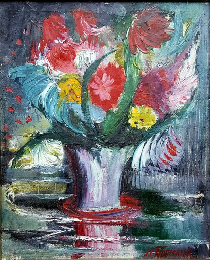 Janis Ferdinands TIDEMANIS - Painting - bouquet de fleurs