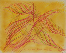 Jean MESSAGIER - Drawing-Watercolor - Hard-core pour miel