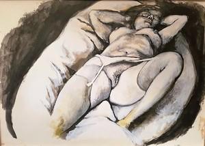 Renato GUTTUSO - Pintura - Nudo Reclinato