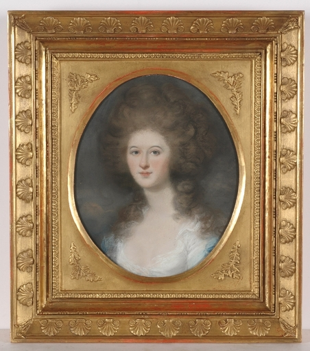 """Daniel GARDNER (Attrib.) - Disegno Acquarello - """"Lady Fitzgerald"""", 1801, Pastel"""