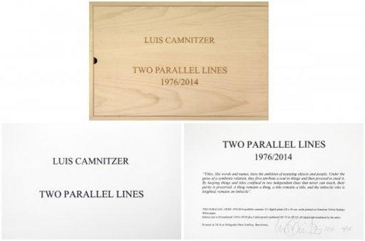 Luis CAMNITZER - Druckgrafik-Multiple - Two Parallel lines