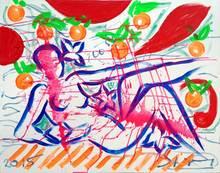 Stefan SZCZESNY - Pittura - Akt mit Orangen