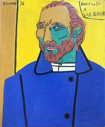 Luis SEOANE LOPEZ - Painting - HOMENAJE A VAN GOGH