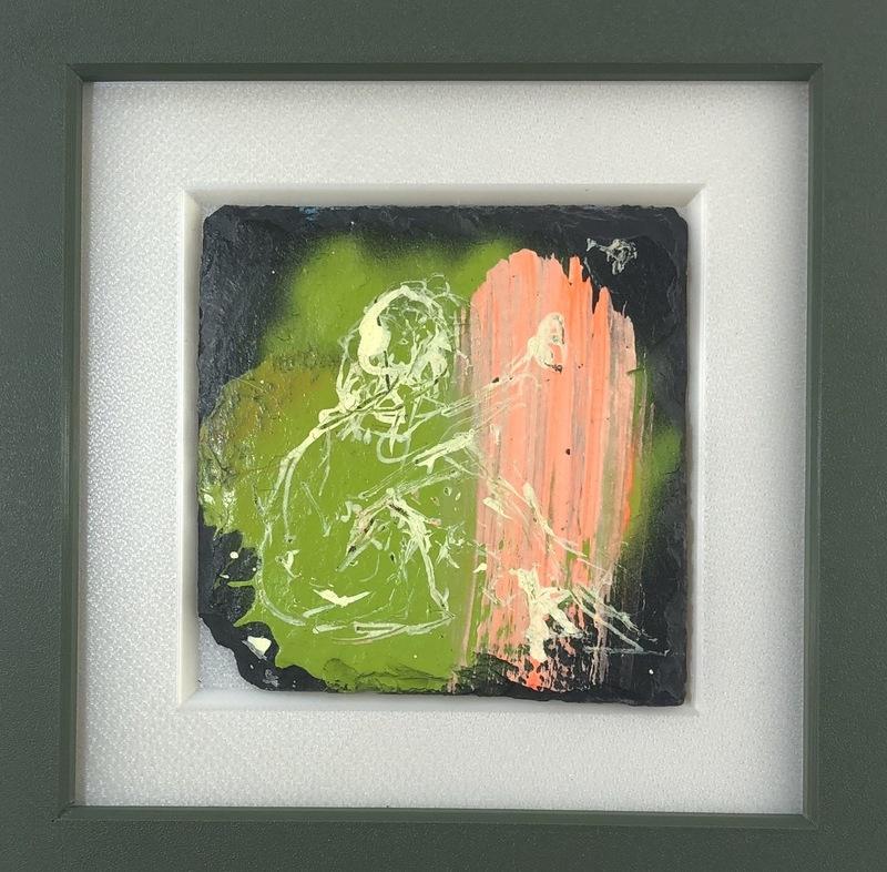 Nicole LEIDENFROST - Gemälde - Girl with green