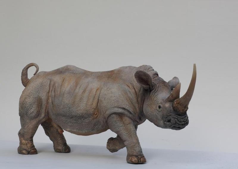 Jacques WETTERER - 陶瓷  - Rhinocéros blanc