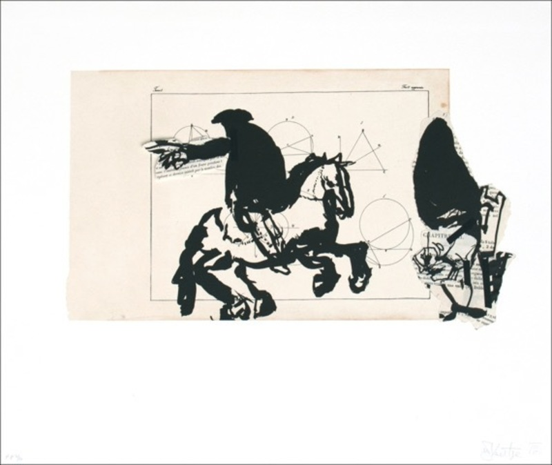 William KENTRIDGE - Painting - Untitled (Horseman)