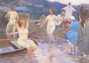 Alessio ISSUPOFF, Peasant Women Bathing at Twilight after a Hard Day's Work
