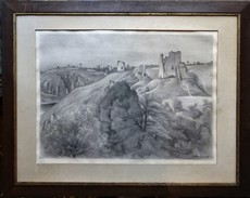 Alfred SMITH - Drawing-Watercolor - les ruines de Crozant
