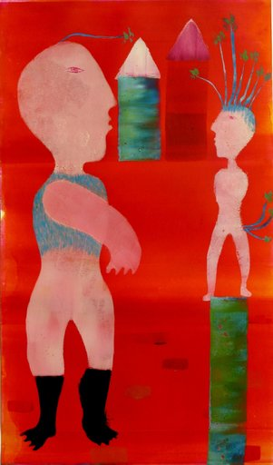 """Els AMMAN - Pintura - """"DEUX PERSONNAGES"""""""