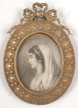 "Jacques Antoine M. LEMOINE - Miniature - ""Actress Francoise Raucourt"", important miniature!! 1797"