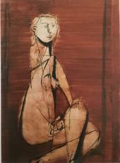 Jankel ADLER - 绘画 - Seated Nude