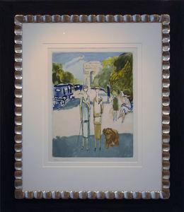 Kees VAN DONGEN - Stampa-Multiplo - Avenue du Bois de Boulogne