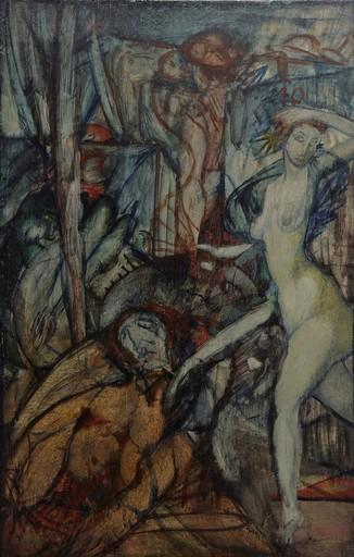 Max ACKERMANN - Gemälde - Figurengruppe
