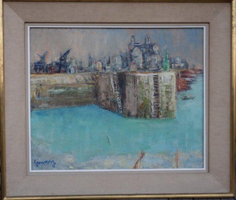 Jean VINAY - Painting - Port de Granville ....Manche