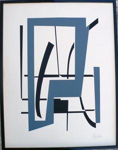 "Robert JACOBSEN, ""Composition"" Paris"