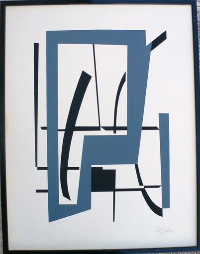 """Robert JACOBSEN - 版画 - """"Composition"""" Paris"""
