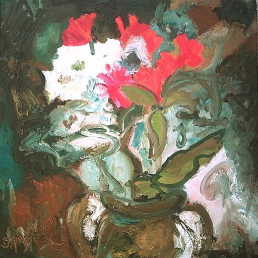 Bernard MOREL - Gemälde - FLEURS