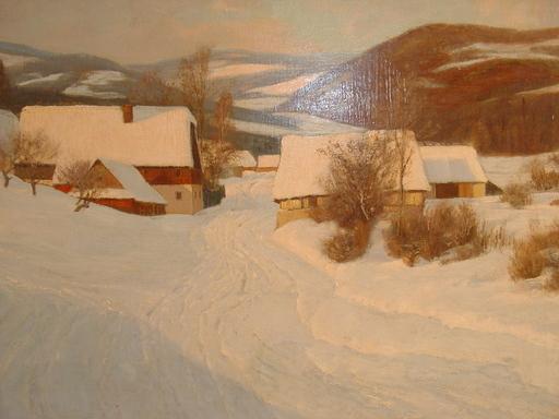Paul WEIMANN - Pintura - Verschneite schlesische Landschaft
