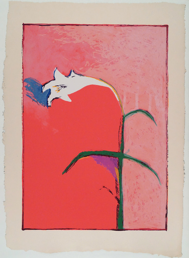 Fritz William SCHOLDER - 版画 - Lily (lithograph)
