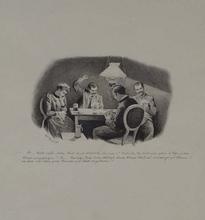 "Adolf GERINGER - Dessin-Aquarelle - Adolf Geringer, ""Gambling"", 1892"