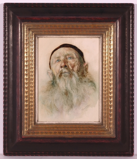 "Theodor DETTER - Peinture - ""Portrait of a Rabbi"", Oil Painting"