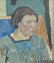 Pinchus KREMEGNE - Pintura - Female Portrait | Portrait de Femme