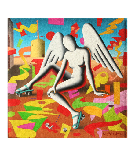 Mark KOSTABI - Pintura - The road less travel