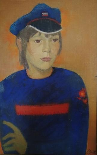 Odette DERAY - Painting - Le Pull bleu