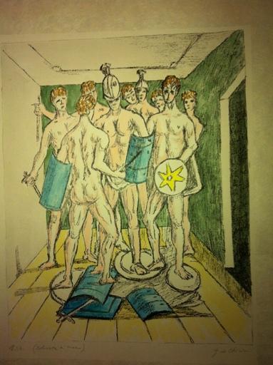 Giorgio DE CHIRICO - Stampa-Multiplo - i gladiatori 1973