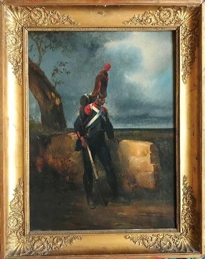 Eugène Pierre François GIRAUD - Painting - Le fantassin sentinelle