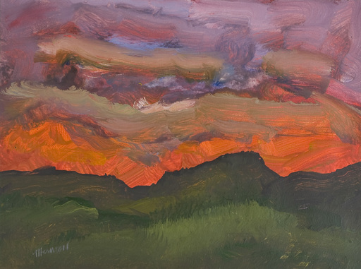 Douglas THOMSON - Pintura - Dark Landscape