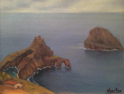 Pelayo DE OLAORTUA - Painting - San Juan de Gaztelugatxe