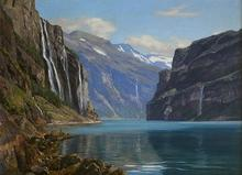 Georg MACCO - Painting - Fiordo Noruego