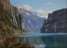 Georg MACCO - Pintura - Fiordo Noruego