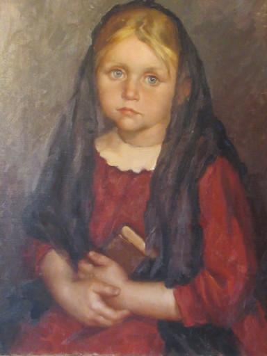 Luigi CORBELLINI - Painting - Fillette réveuse