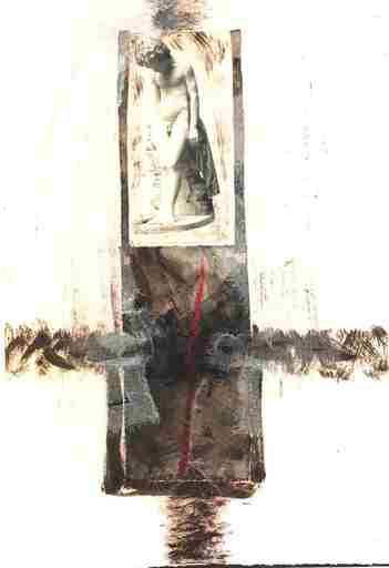 Dores SACQUEGNA - Painting - Un primo dolore - Serie carte incise '800